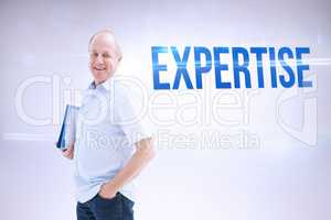 Expertise against grey background