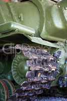 Tank Track Closeup