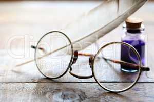 Spectacles And Quill