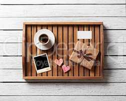 Photo frame and hearts gift box