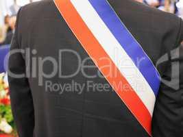French mayor with sash