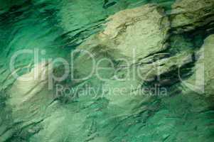 Wasser Meer klar, azur blau türkis karibik Hintergrund Textur