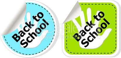 Back To School education banners, education concept