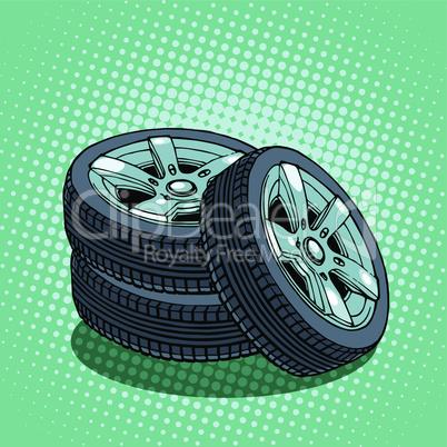 Tires spare wheel