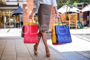 Pretty woman shopping at the mall