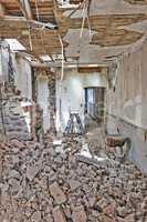 Abandoned room under demolition
