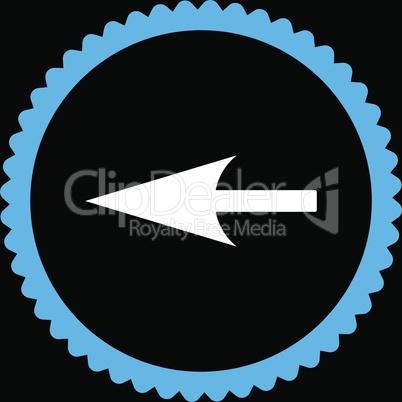 bg-Black Bicolor Blue-White--sharp left arrow.eps