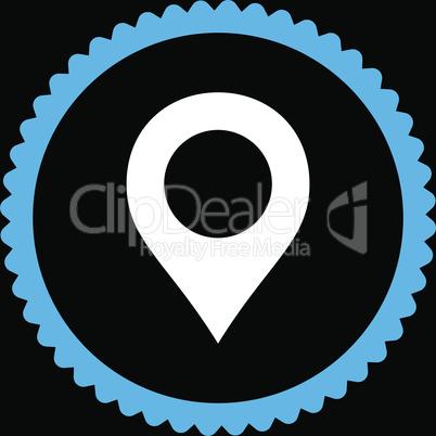 bg-Black Bicolor Blue-White--map marker.eps