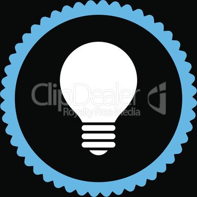 bg-Black Bicolor Blue-White--electric bulb.eps