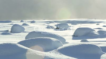 Snow bumps in South Iceland
