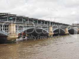 Blackfriars bridge in London