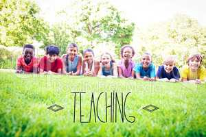 Teaching against happy friends in the park