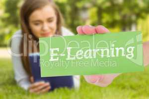 E-learning against university student lying and using tablet pc