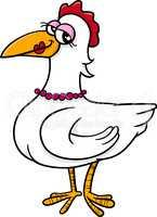hen bird farm animal cartoon