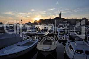 Abend in Rovinj, Istrien, Kroatien