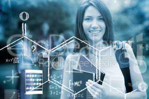 Composite image of science formula