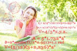 Composite image of math problems