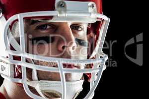American football player looking at camera