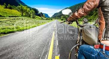 Biker girl First-person view