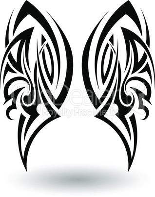 Hand Drawn Tribal Tattoo