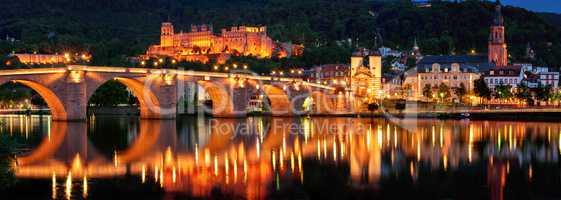 Panorama von Heidelberg in Abendstimmung