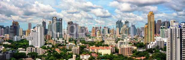 Bangkok skyline panorama