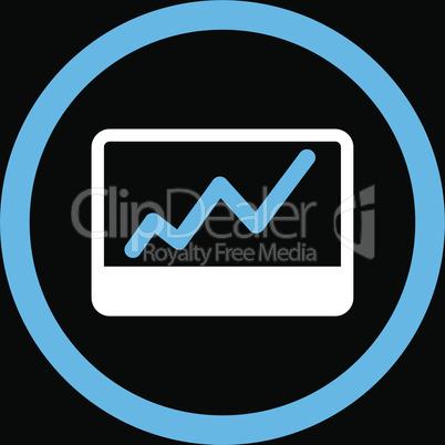 bg-Black Bicolor Blue-White--stock market.eps