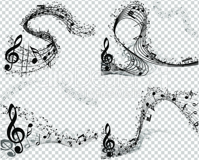Set of 4 Musical Backgrounds