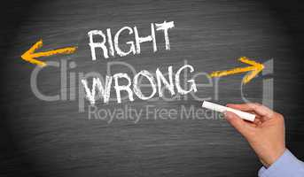 Right or wrong - evaluation concept