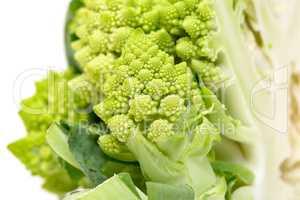 Part Green Fresh Romanesque Cauliflower