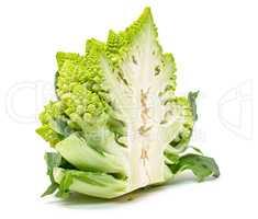 Half Green Fresh Romanesque Cauliflower