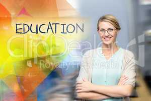 Education against confident female teacher in computer class