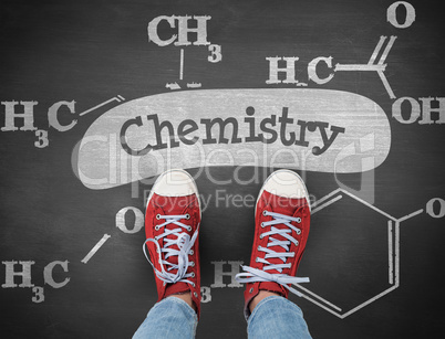 Chemistry against black background