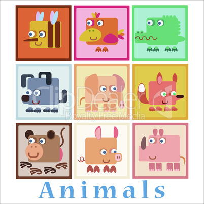 Set animals baby style