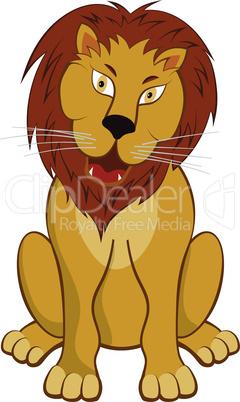 Funny Cartoon Lion