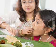 Indian girl eating