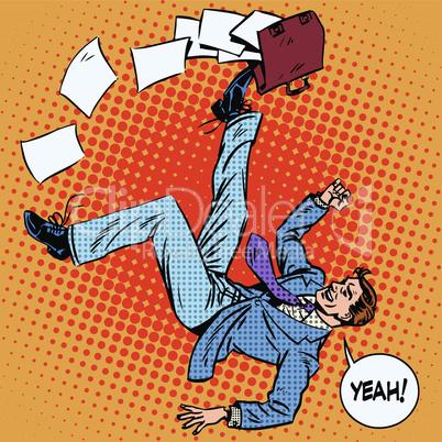 Businessman scores portfolio business success concept