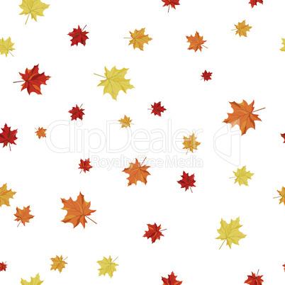 Seamless Maple Pattern