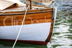 Bug eines alten Segelschiffs