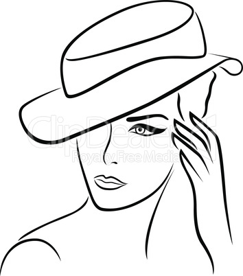 Elegant girl in a hat