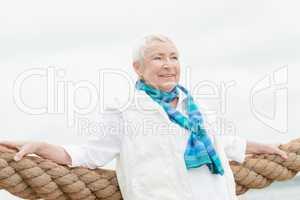 Glückliche Seniorin