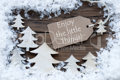 Label Christmas Trees And Snow Enjoy Little Things