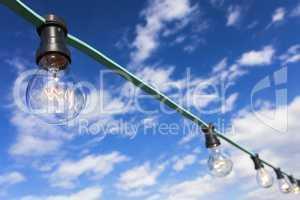 Light Bulbs and Blue Sky