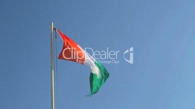 Ivory Coast flag waving in the wind