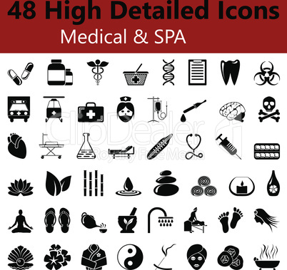 Medical and SPA Smooth Icons