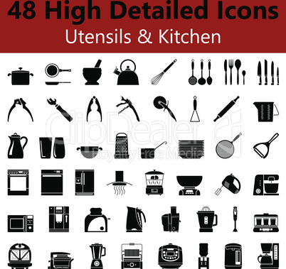 Utensils and Kitchen Smooth Icons