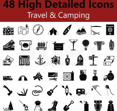 Travel and Camping Smooth Icons