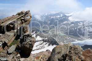 Gipfel des HInteren Daunkopf, Stubaier Alpen