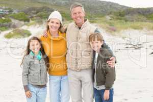 Happy family having a family day out