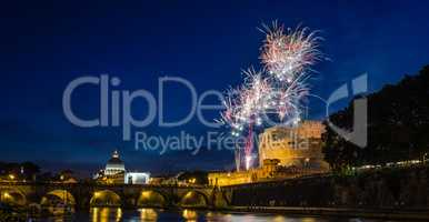 Girandola Fireworks in Rome and Vatican